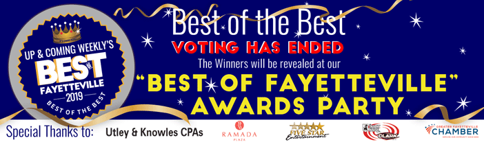 Voting for Up & Coming Weekly's Best of Fayetteville 2019 has ended.